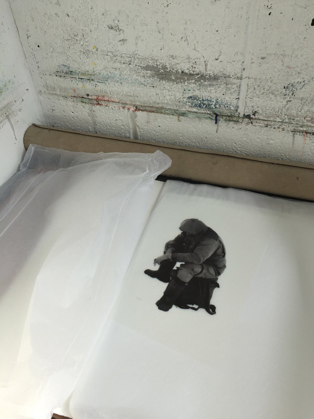 photo etching prints from Lapland - paper, ice, forestry, people, isolation. Light.