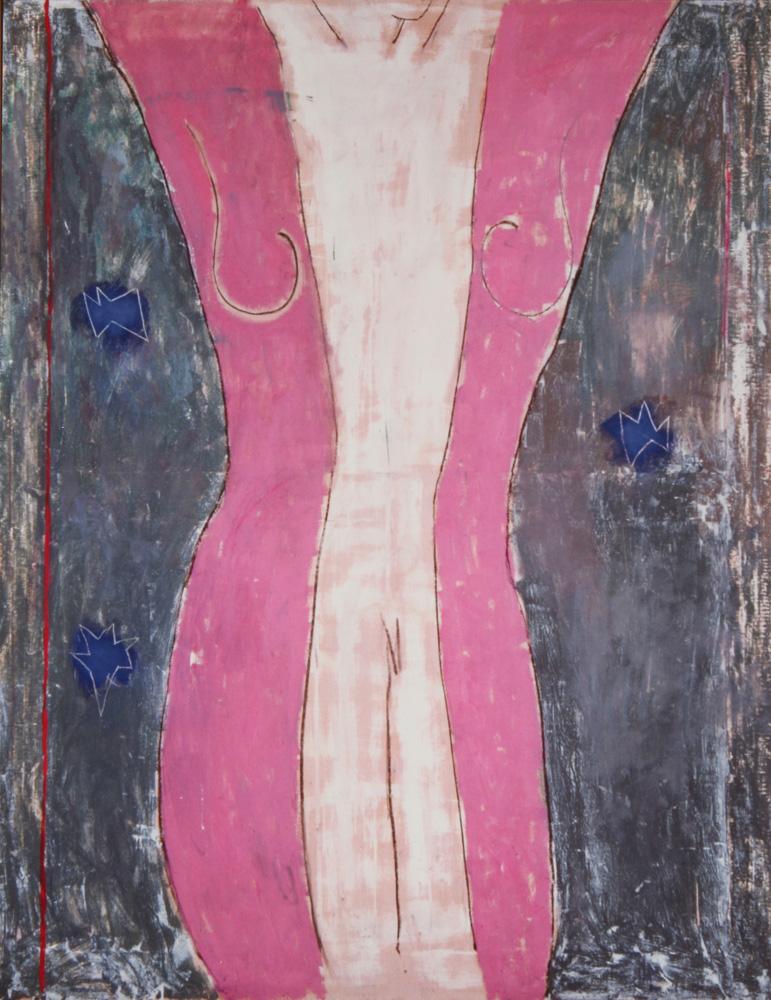 Senza titolo, 1984  Tecnica mista su tela  cm 200 x 150