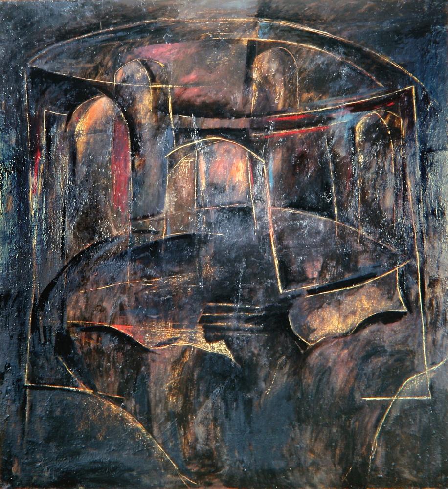 Senza titolo, 1987  Olio su tela  cm 200 x 180