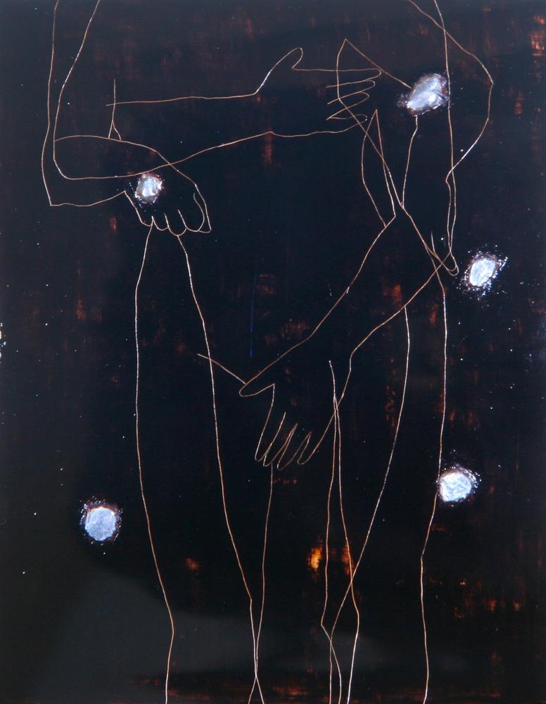 Senza titolo, 1989  Olio e piombo su legno  cm 164 x 130