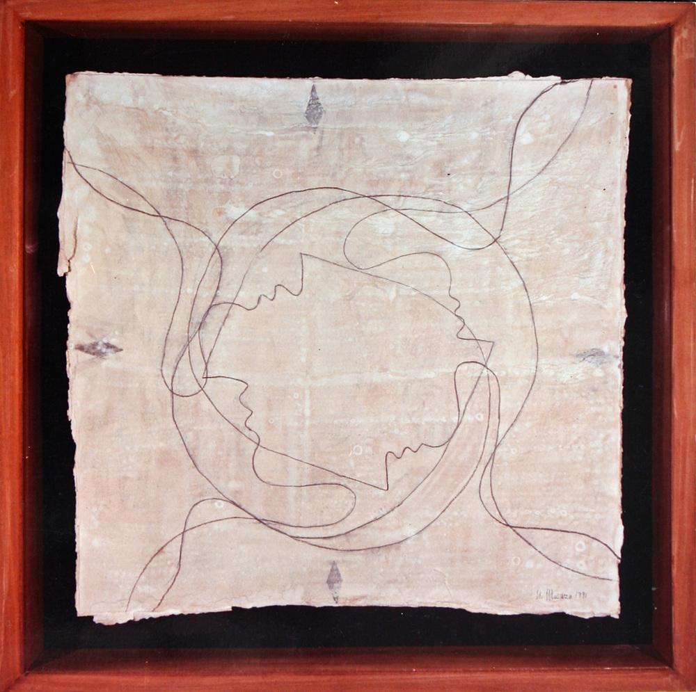 Senza titolo  1991  Tempera e grafite su cartone  cm 75 x 75