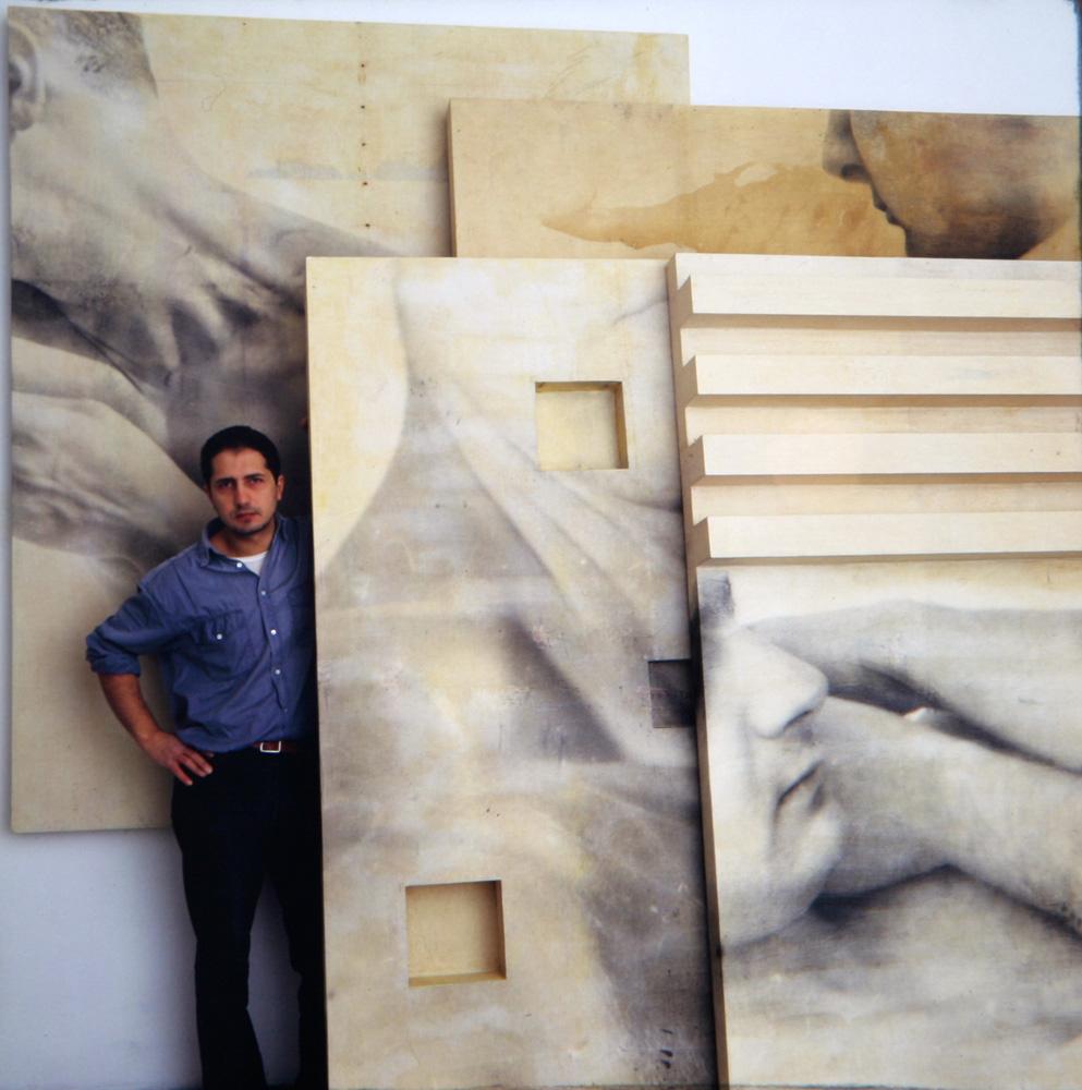 L' artista nel suo studio  Napoli 1993