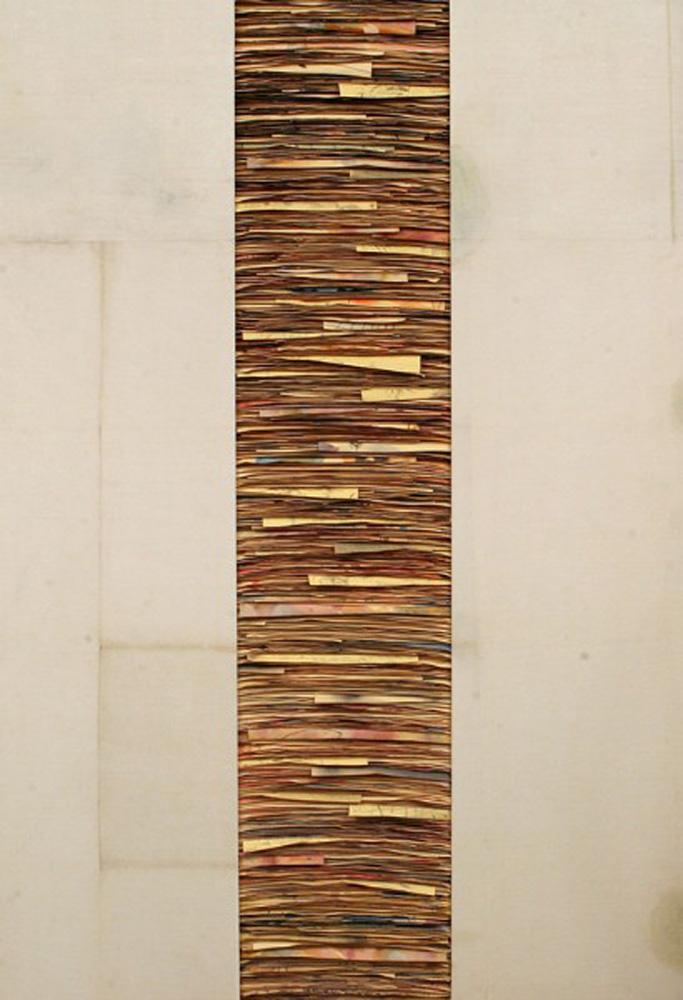 Senza titolo,  2011  Tecnica mista su carta e tela incollata su legno  cm 180 x 125