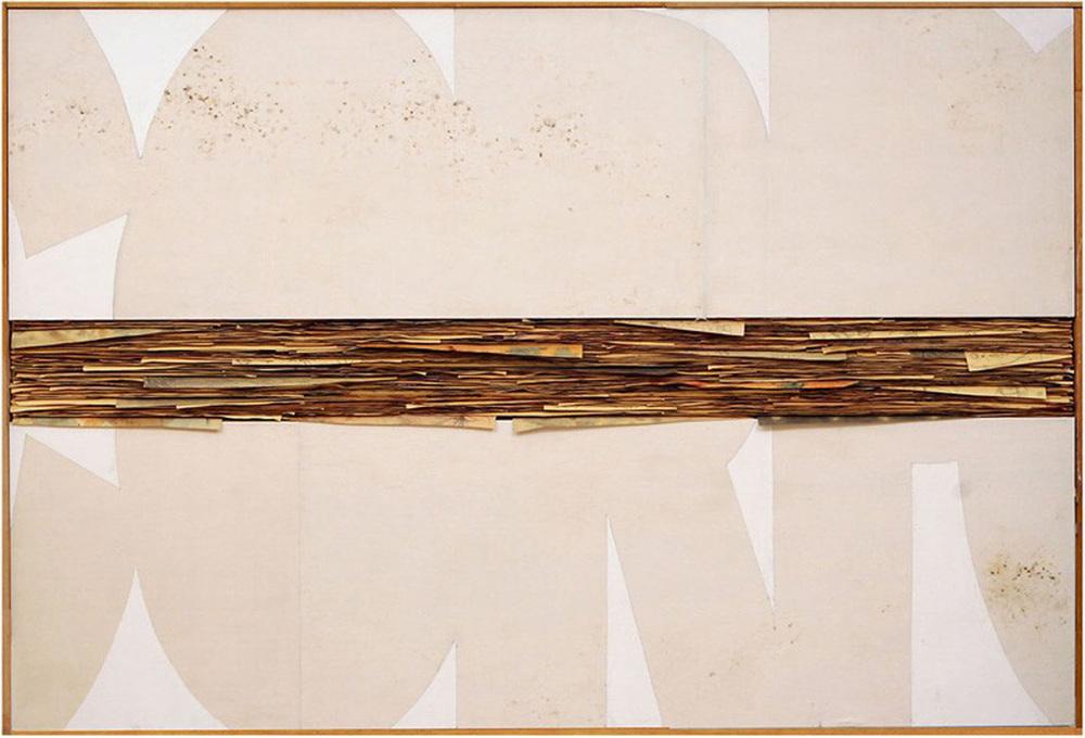 Senza titolo,  2011  Tecnica mista su carta e tela incollata su legno  cm 140 x 200