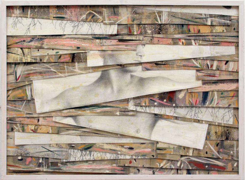 Senza titolo, 2005  Olio, grafite e cera su tela  cm 90 x 125,5