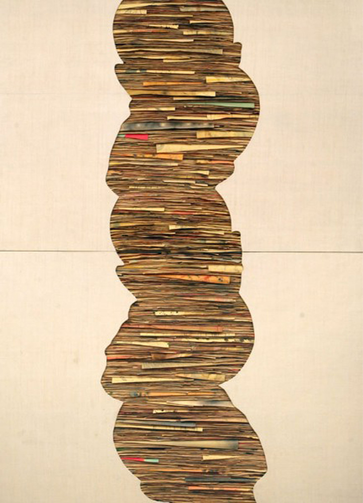 Senza titolo, 2010  Tecnica mista su carta e tela incollata su legno  cm 250 x 180