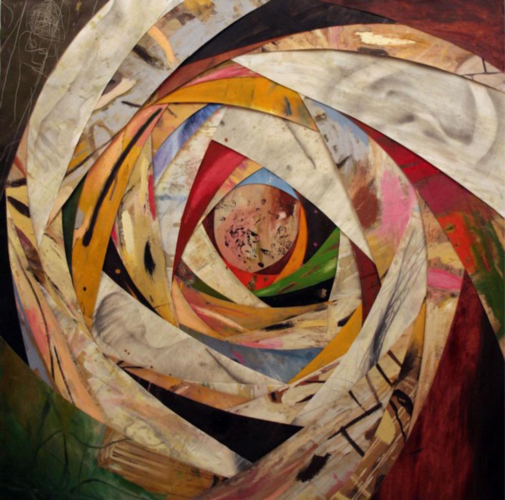Senza titolo,  2005  Olio, grafite e cera su tela  cm. 175 x 175