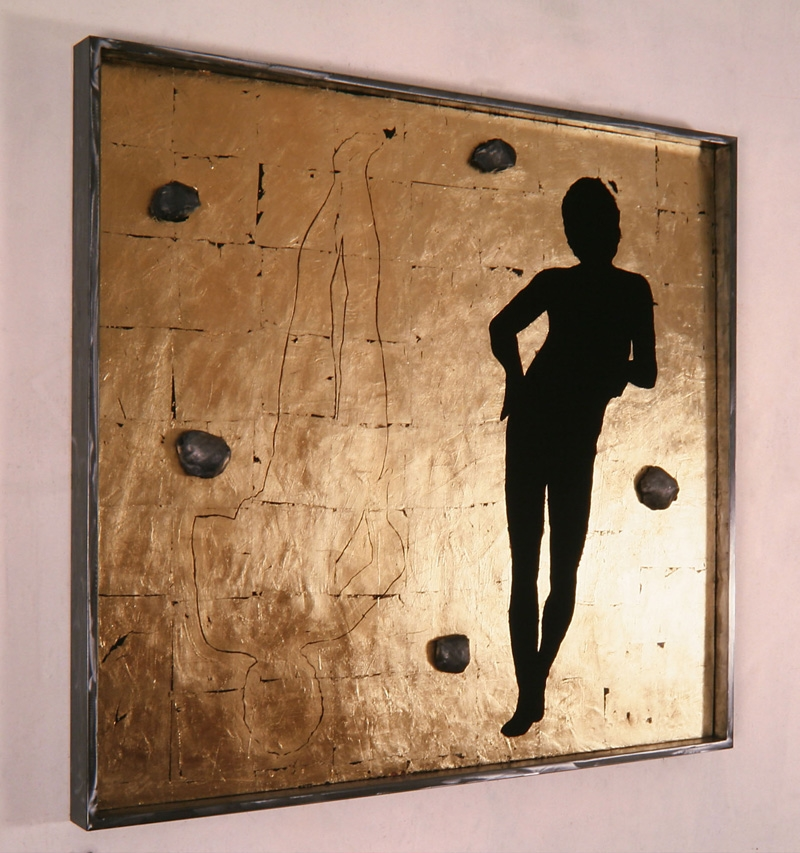 Senza titolo, 1988  Tempera, piombo e foglia d'oro su legno  cm 150 x 140