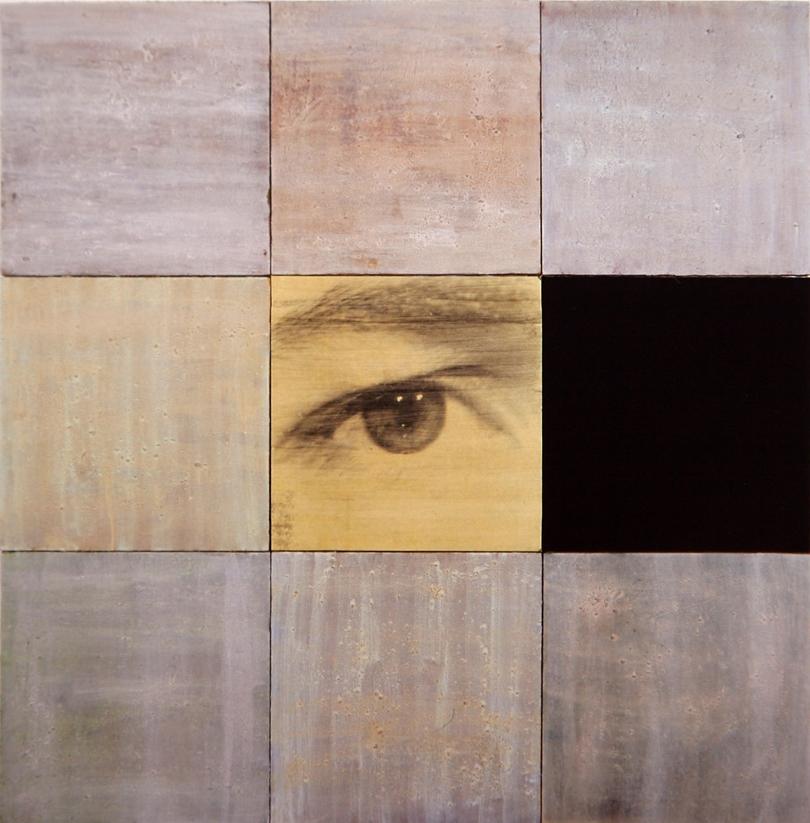 Senza titolo, 1991  Tecnica mista su tela  cm. 180 x 180