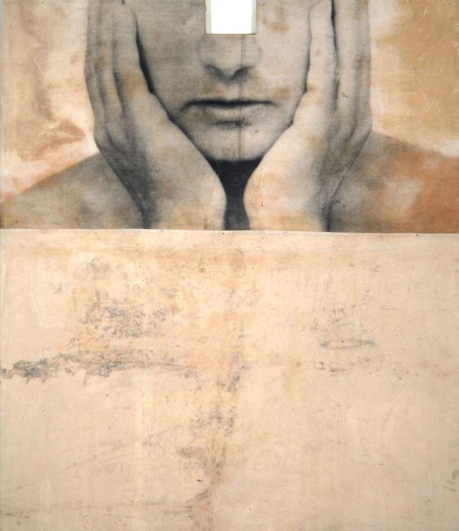 Senza titolo, 1993  Emulsione fotografica su tela incollata su legno  cm. 210 x 180 x 10,5