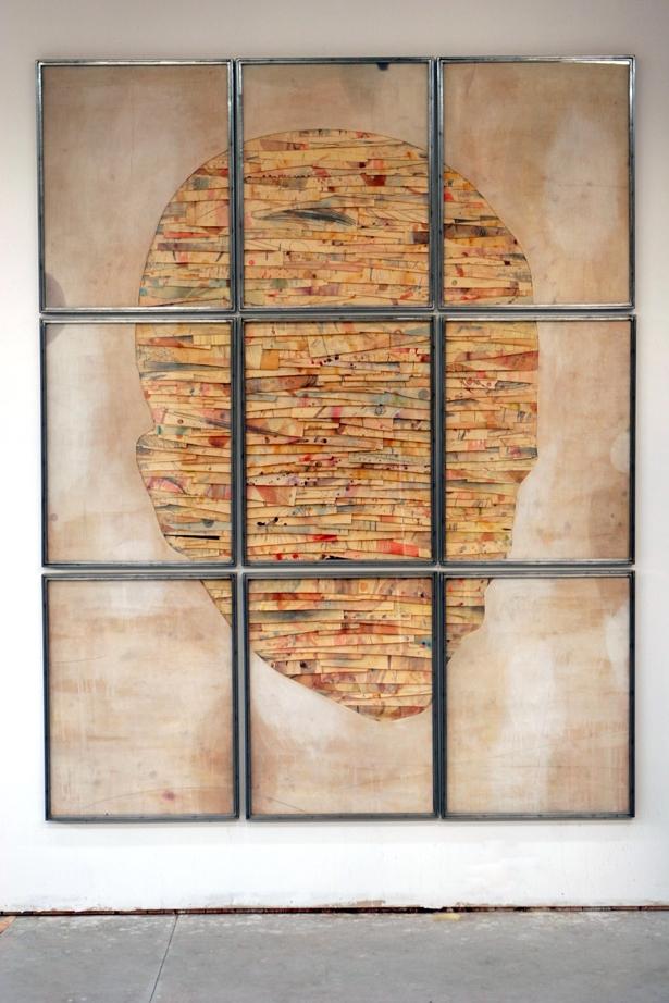 Senza titolo,  2013  Tecnica mista su carta e tela incollata su legno  cm 280 x 220