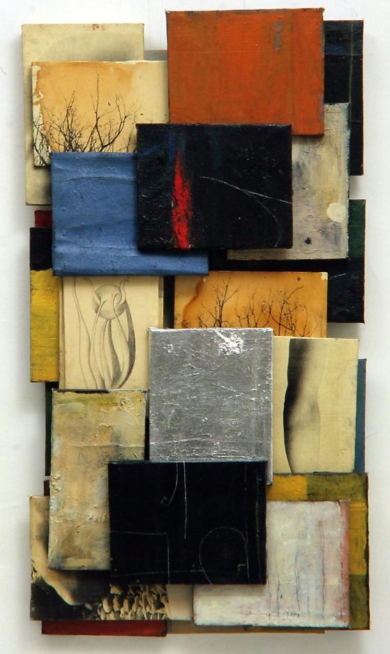 Senza titolo, 2000  Olio su tela e carta emulsionata  cm.121 x 67