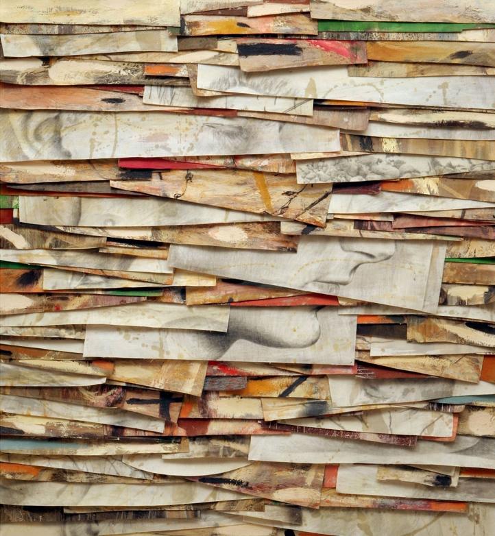 Senza titolo, 2006  Olio, grafite e cera su tela  cm.135 x 125,5