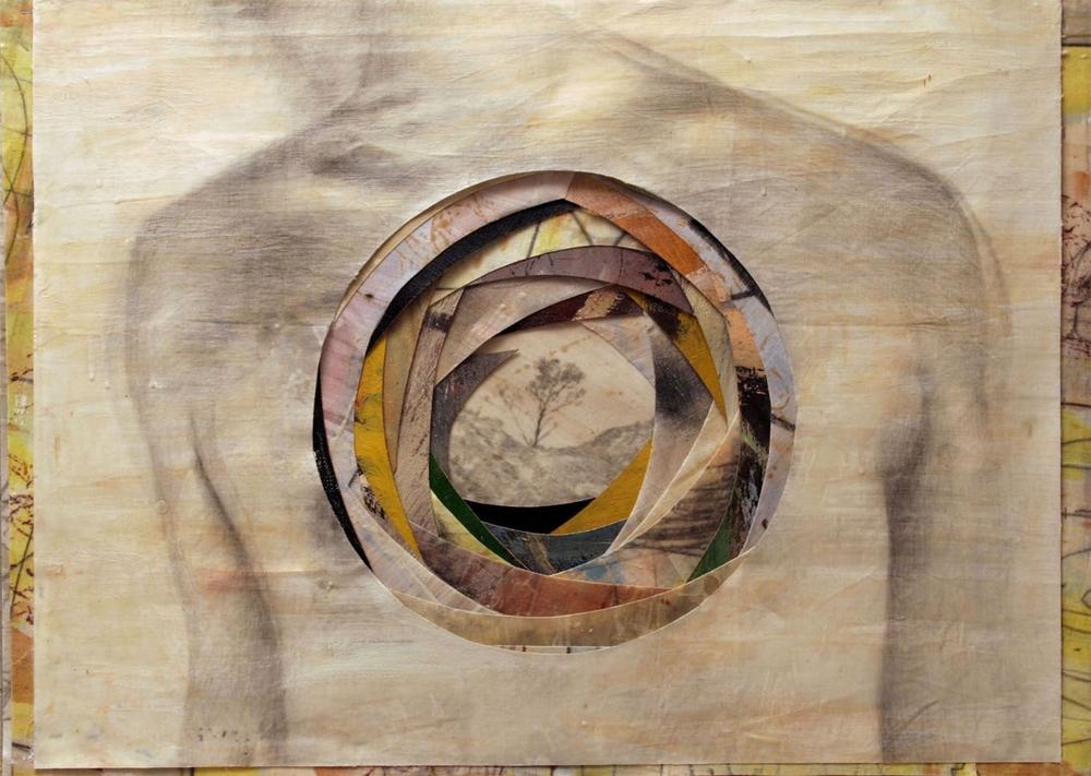 Senza titolo, 2005  Olio, grafite e cera su tela  cm. 62,5 x 87,5
