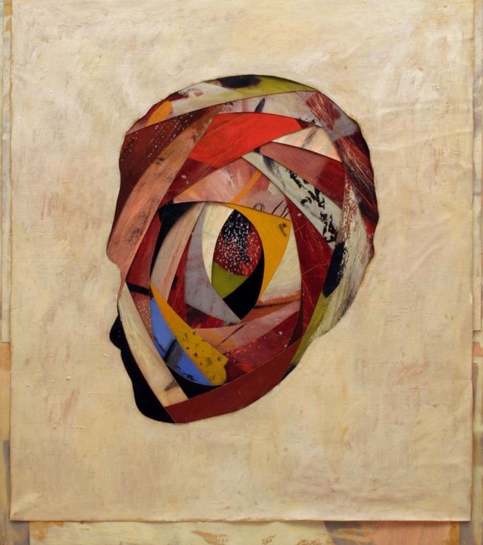 Senza titolo, 2004  Olio su tela montata su legno  cm.125 x 113
