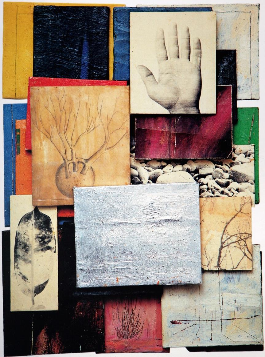 Senza titolo, 2000  Olio su tela e carta emulsionata  cm.90 x 70