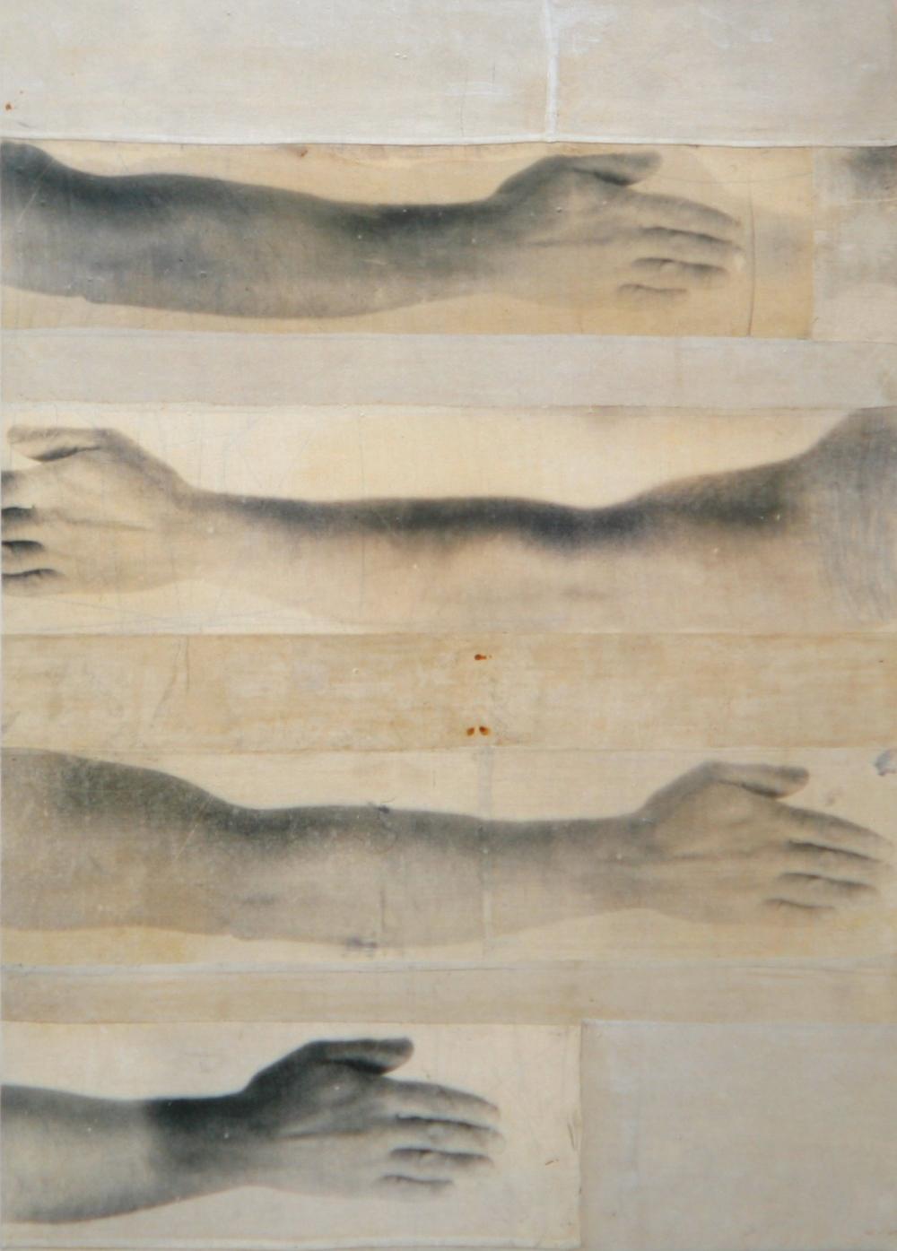 Senza titolo, 1997  Emulsione fotografica, colla e tela su legno  cm. 140 x 100