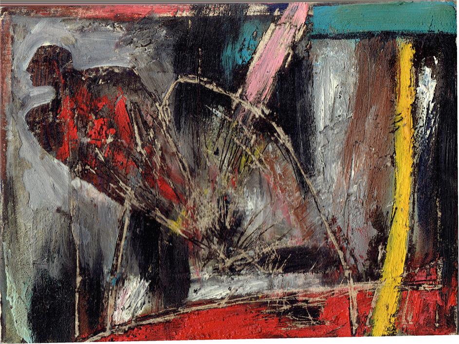 Senza titolo, 1987  Olio su tela  cm 18 x 24
