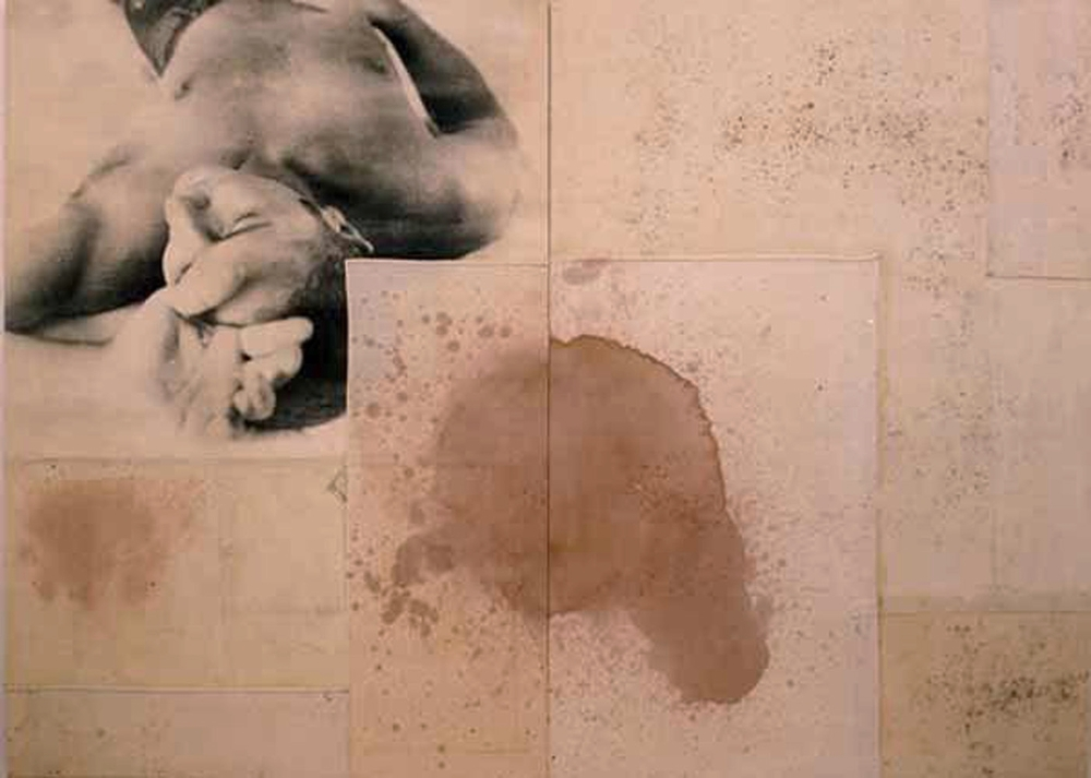 Senza titolo, 2004  Emulsione fotografica e gommalacca su tela  cm. 180 x 224
