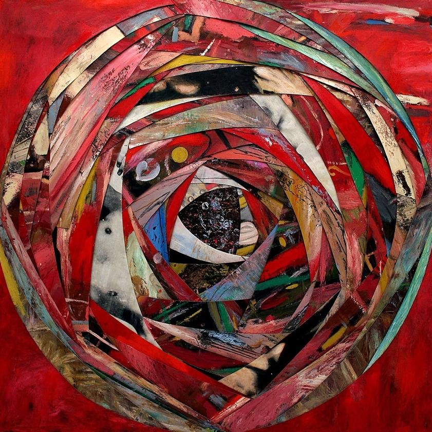 Senza titolo, 2005  Olio, grafite e cera su tela  cm. 240 x 270
