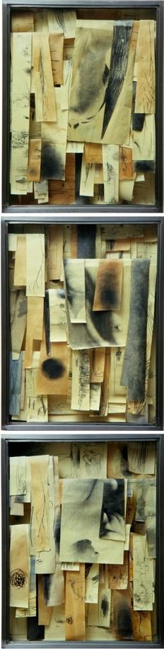 Senza titolo, 2000  Tecnica mista ed emulsione fotografica su carta, ferro, vetro  cm. 252 x 64
