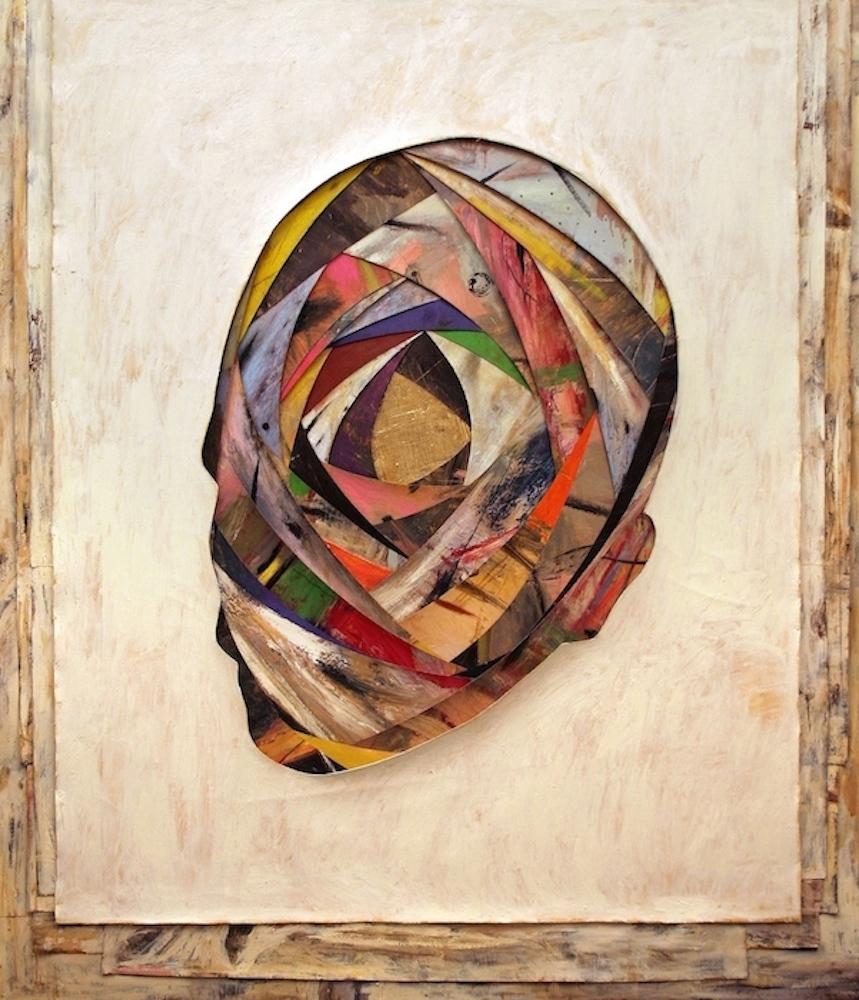 Senza titolo, 2005  Olio, cera e foglia d'oro su tela  cm. 210 x 180