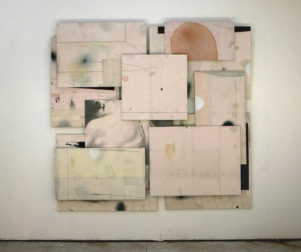 Senza titolo, 2009  Tecnica mista su carta e tela incollata su legno  cm 270 x 280