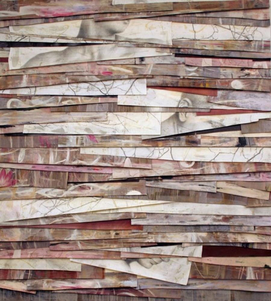 Senza titolo, 2006  Olio, grafite e cera su tela  cm 250 x 225