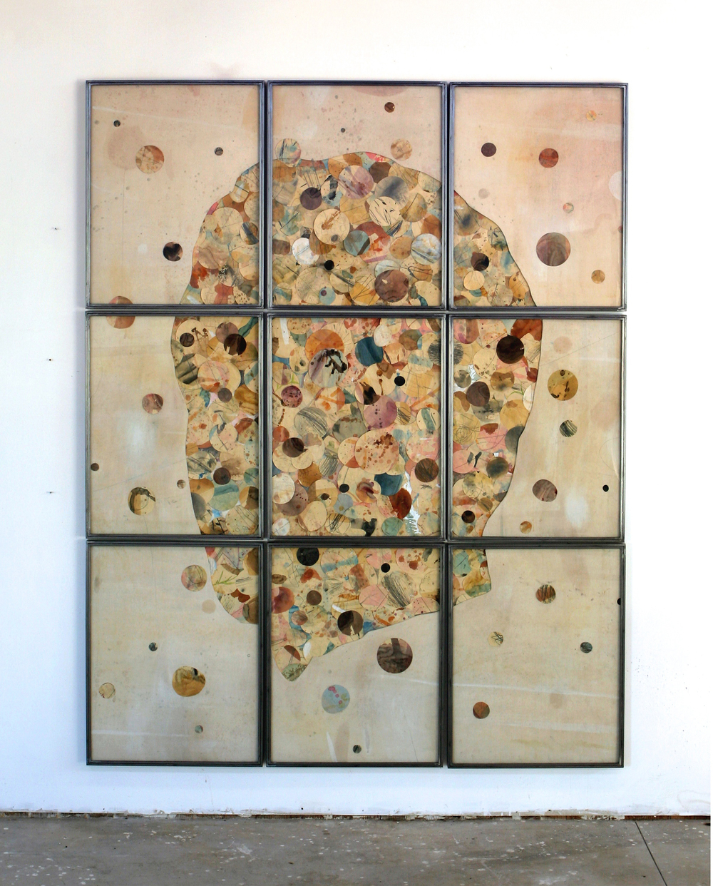 Senza titolo, 2014 Tecnica mista su carta e tela incollata su legno cm 280 x 220