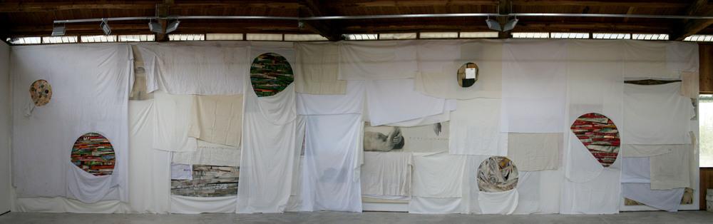 Installazione 2015  cm. 420x1800