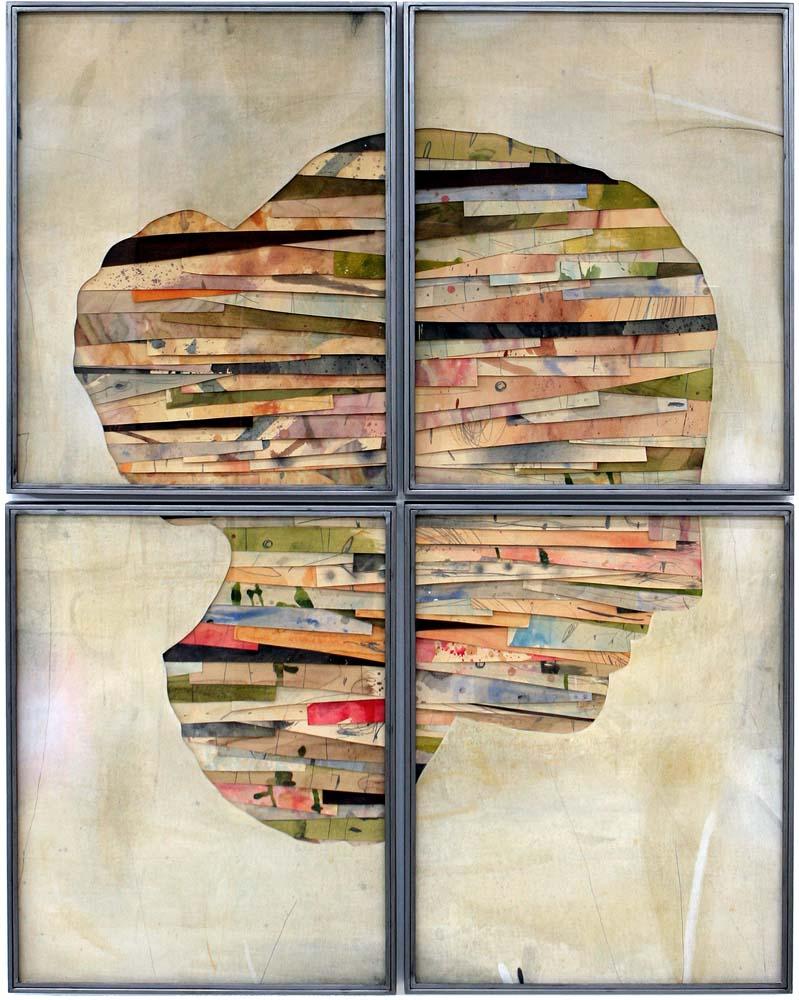 Senza titolo , 2016 Tecnica mista su carta e tela incollata su legno cm 186 x 146