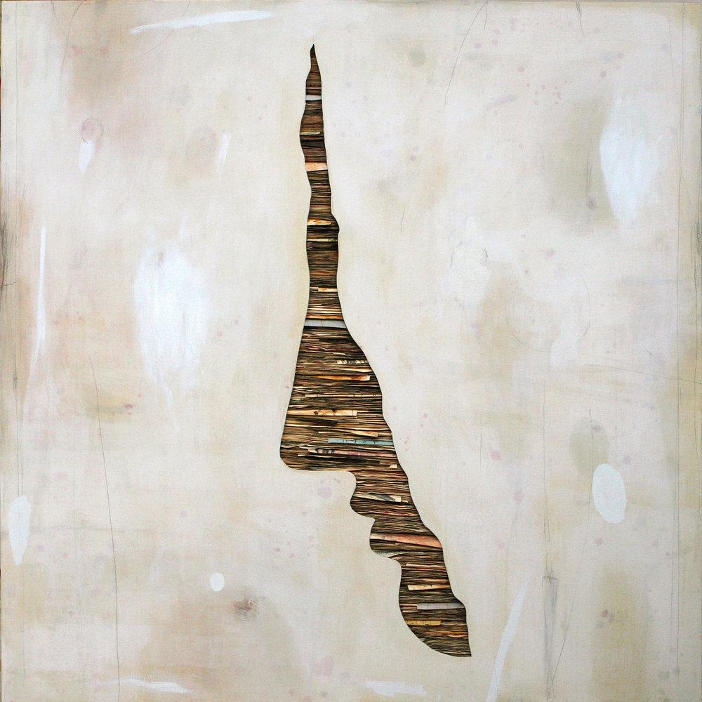 senza titolo 2018, tecnica mista su tela su legno, cm.160x160