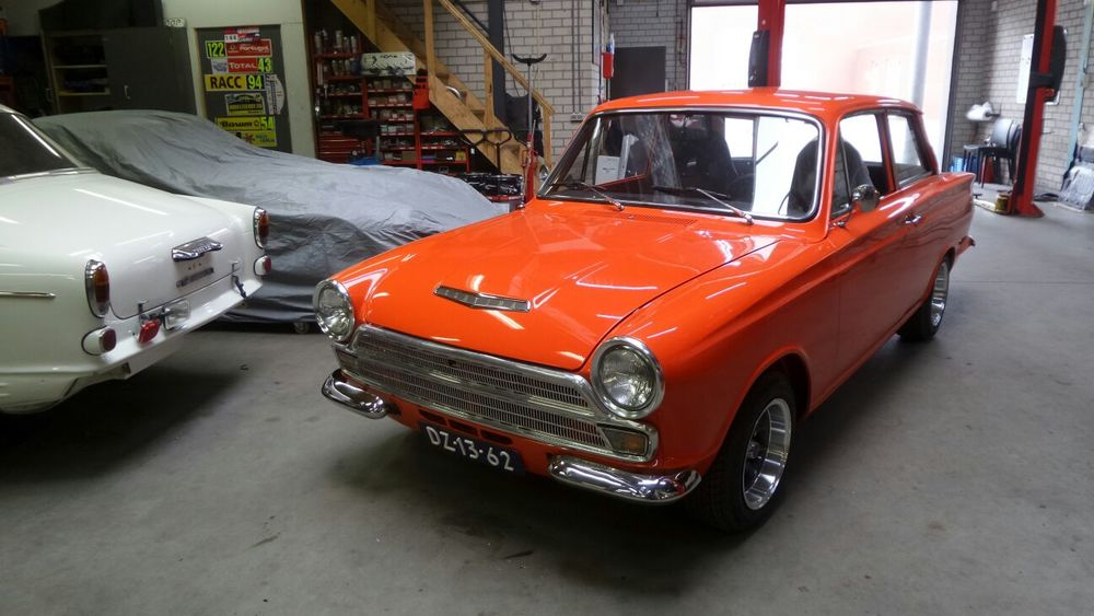 Ford Cortina GT, restauratie, start november 2016, gereed oktober 2017.