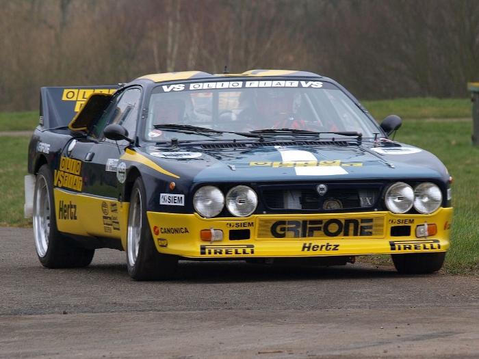 Voorbeeld van een Lancia 037 Groep B