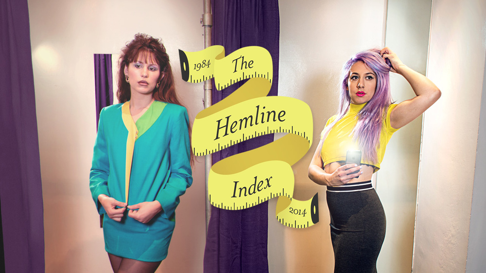 The Hemline Index logo over hero photo