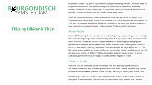 Frans Restaurant - Thijs by Dikker & Thijs - Reviews - Bourgondisch Amsterdam.png