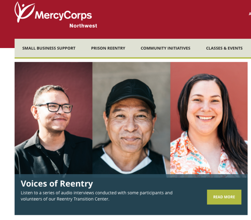 Mercy Corps Reentry Transition Center audio project