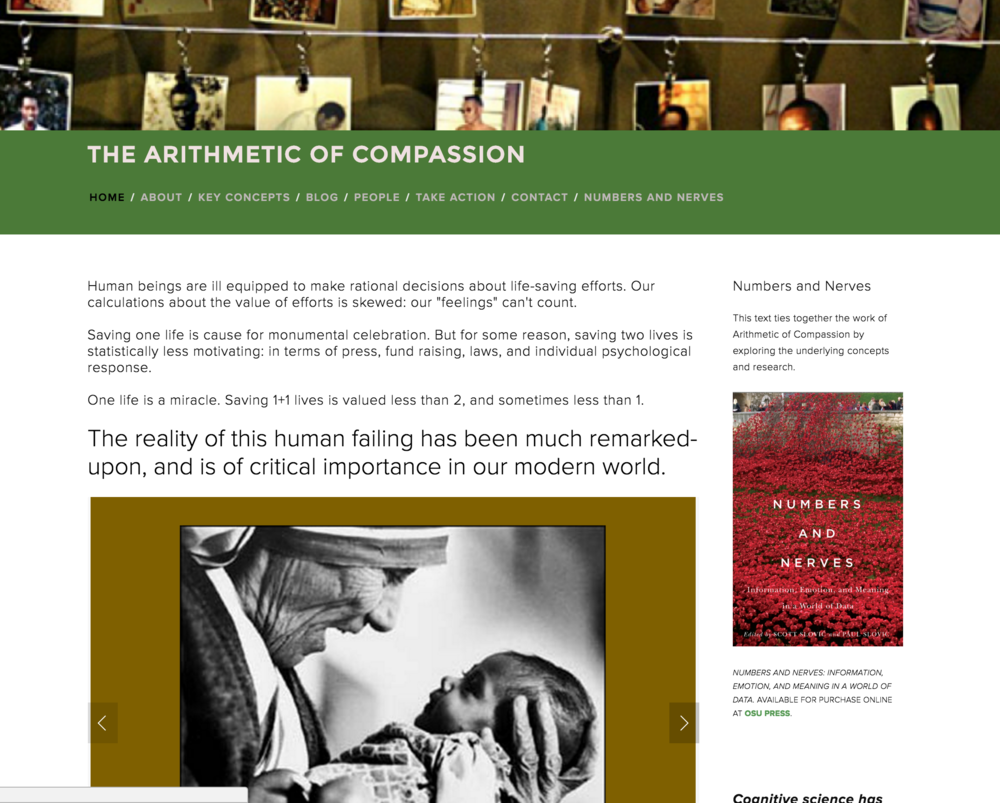 Katie Dwyer - Website design Arithmetic of Compassion