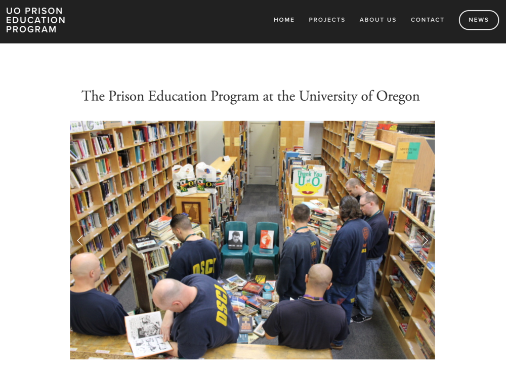 University of Oregon Prison Education Program