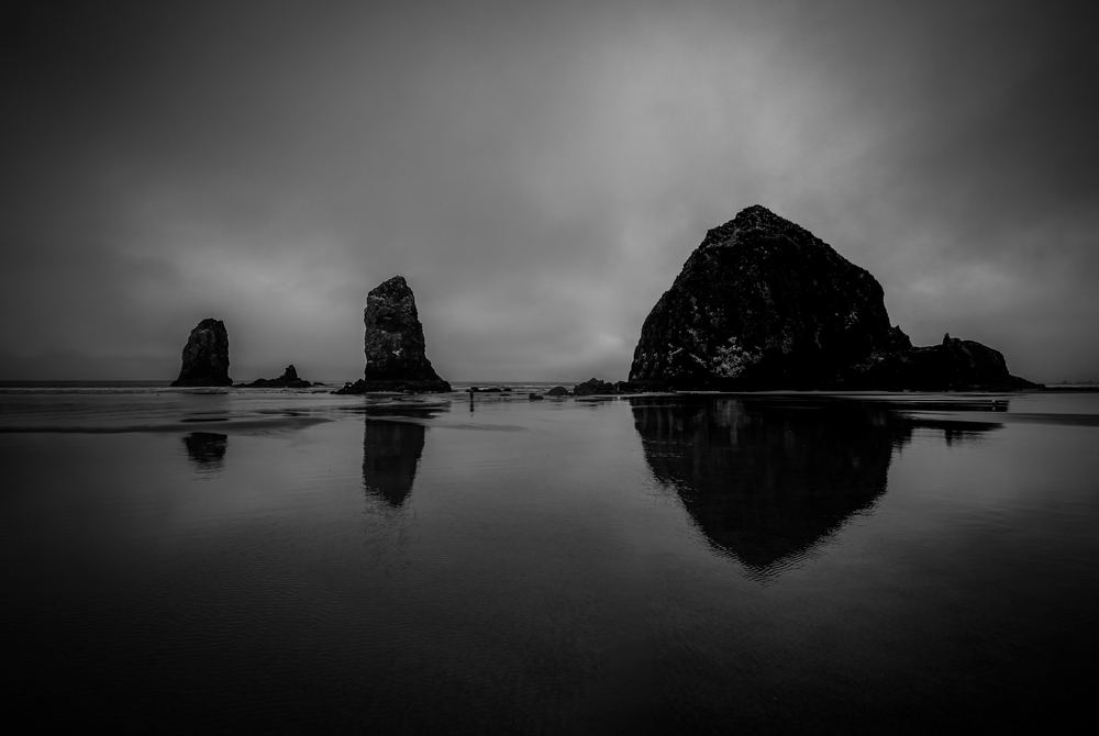 Overcast morning at Cannon Beach
