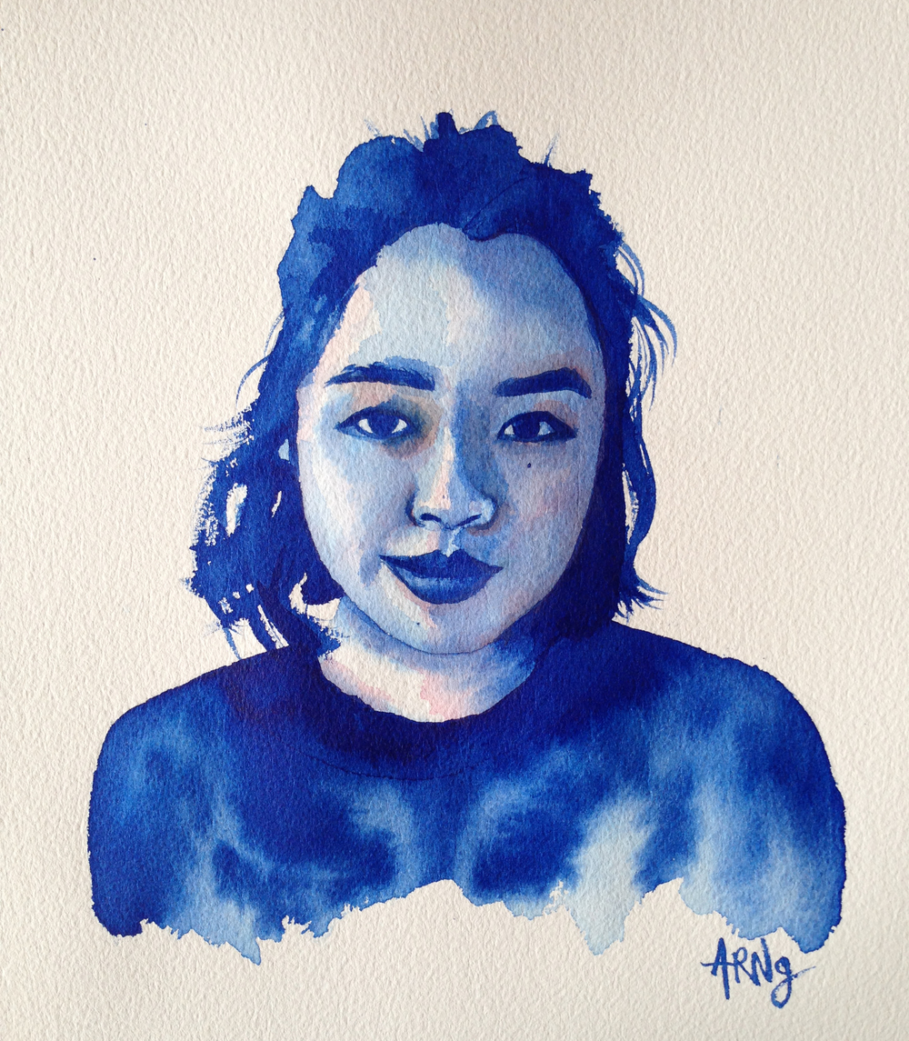 Blue Self Portrait