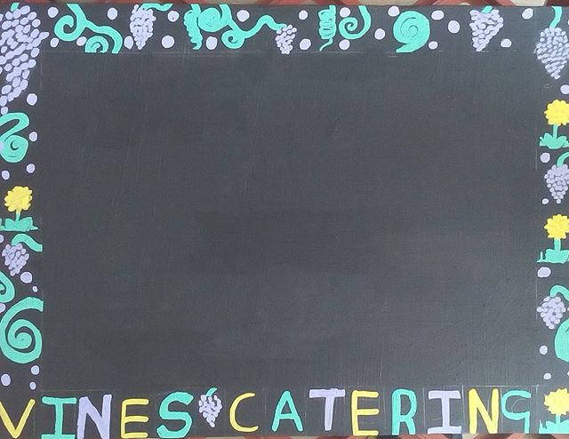 Our new #photo board #handdrawn by our lovely Caitlin #art #design #food #catering #peterborough