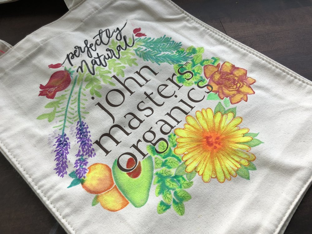 simoneone - live drawing John Masters Organics