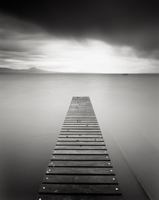 Title: Pier, Camera: Ebony RSW 45, Lens: Rodenstock Apo-Grandagon 45 mm, Filtr: Lee Big Stopper, Film: Kodak T-Max 100, Exposure: 90″ , f 11