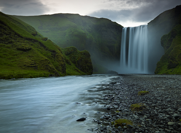 Summer Night at Skogafoss