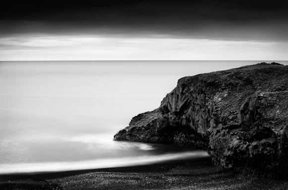 Title: Beach End, Camera: Canon EOS 5D mark II, Lens:Canon EF 70-200 f /2.8L USM, Filtr: Lee ND 0.9 and Lee ND Grad 0.6, Exposure: 60″ , f 32, ISO: 50, Vik, Iceland, 2009