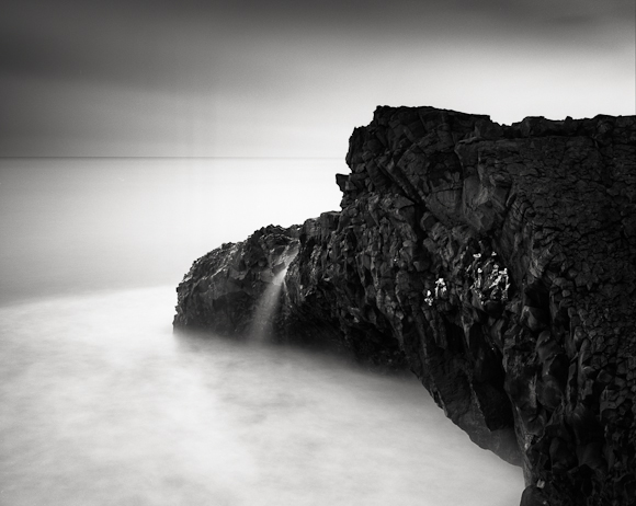 Title: Bird's Nest, Camera: Ebony RSW 45, Lens: Schneider 90 mm, Filtr: Lee Big Stopper, Film: Kodak T-Max 100, Exposure: 500″ , f 13, Vik, Iceland, 2012