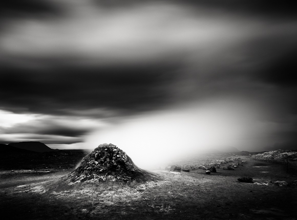 Title: Smoking Land, Camera: Canon EOS 5D mark II, Lens:Canon EF 17-40 f /4L USM, Filtr: Lee Big Stopper and Lee ND Grad 0.6, Exposure: 205″ , f 22, ISO: 50