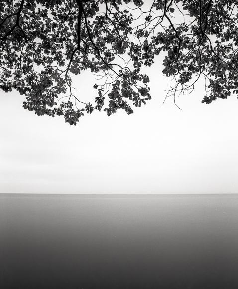 Title: Lake Shore II, Camera: Mamiya RB Pro S, Lens: Mamiya Sekor 50 mm, Filter: Lee Big Stopper, Film: Kodak T-Max 400, Exposure: 60″, f 22, Lake Geneva, Switzerland, 2012
