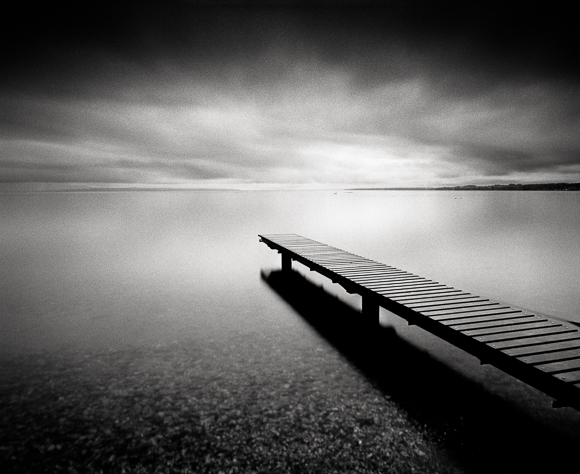 Title: Winter Sunrise, Camera: Mamiya RB Pro S, Lens: Mamiya Sekor 50 mm, Filter: Lee Big Stopper and Lee ND Grad 0.6, Film: Kodak T-Max 400, Exposure: 120″, f 16, Lake Geneva, Switzerland, 2012